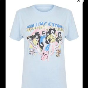 Tops - Rolling Stones vintage band graphic tee shirt